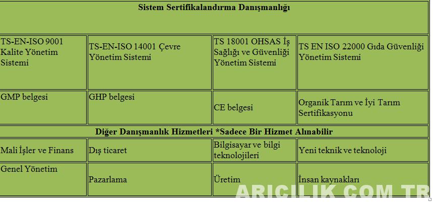 sistem sertifikaları danışmanlığı