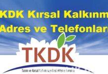 TKDK Kırsal Kalkınma Adres ve Telefonları