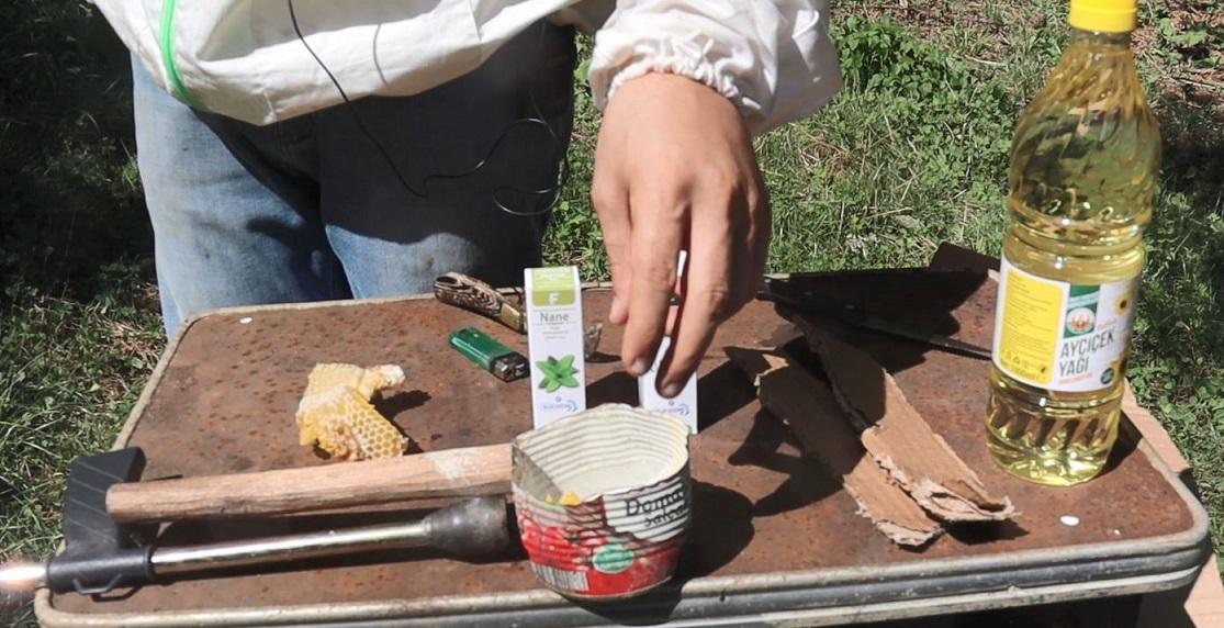 doğal varroa dökme yöntemi malzemeler